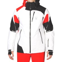 Spyder Leader Thinsulate® Ski Jacket - Waterproof, Insulated (For Men) in White/Black/Volcano - Closeouts