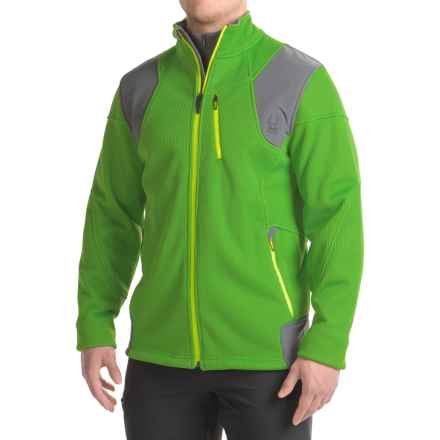 Spyder Legend 3L Fleece Jacket (For Men) in Blade/Polar/Bryte Yellow - Closeouts