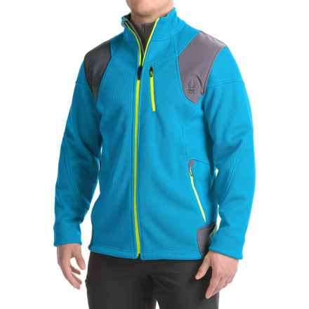 Spyder Legend 3L Fleece Jacket (For Men) in Electric Blue/Polar/Bryte Yellow - Closeouts
