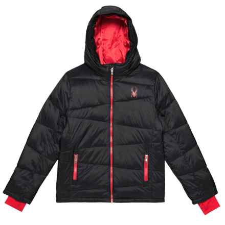 Spyder Lightweight Puffer Jacket - Insulated (For Big Boys) in Black - Closeouts