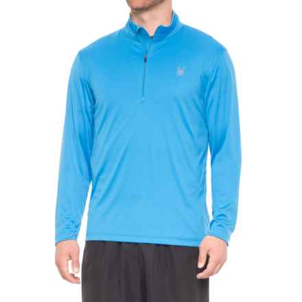 Spyder Limitless Dry Web Shirt - Zip Neck, Long Sleeve (For Men) in French Blue - Closeouts