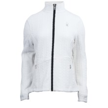 Spyder Major Cable Core Sweater Jacket (For Women) in White/Black - Closeouts