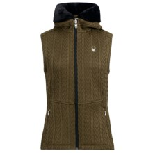 Spyder Major Cable-Knit Sweater Vest - Full Zip (For Women) in Sergeant/Black - Closeouts