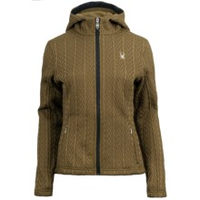 Spyder Major Sweater Hoodie - Fleece Lining, Full Zip (For Women) in Sergeant/Black - Closeouts
