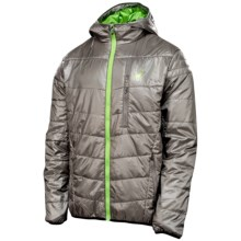 Spyder Mandate Jacket - Insulated, Hooded (For Men) in Graystone/Mantis Green - Closeouts