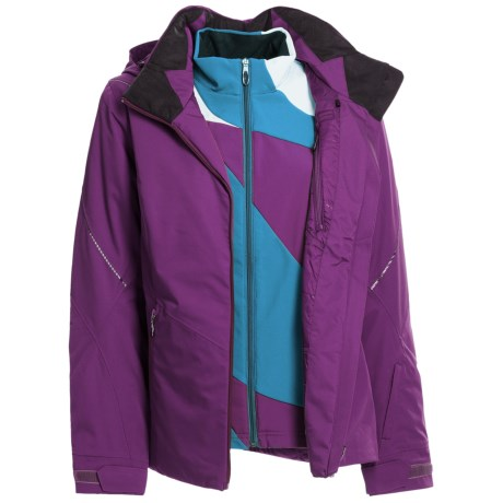 Spyder Menage A Trois Jacket - 3-in-1, Waterproof, Insulated (For Women) in Sergeant/Gypsy