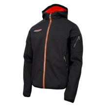 Spyder Mercury GT Soft Shell Jacket (For Men) in Black/Volcano/Bright Orange - Closeouts