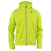 Spyder Mercury Jacket - Stretch Soft Shell (For Men) in Sharp Lime/Sharp Lime - Closeouts