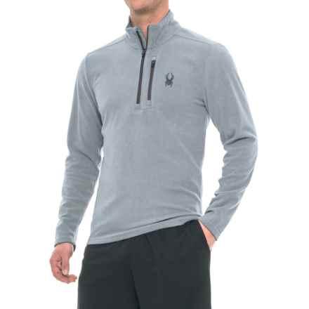 Spyder Microfleece Shirt - Zip Neck, Long Sleeve (For Men) in Steel - Closeouts