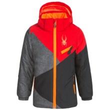 Spyder Mini Ambush Thinsulate® Jacket - Waterproof, Insulated (For Little Kids) in Polar Wool Print/Volcano/Black - Closeouts