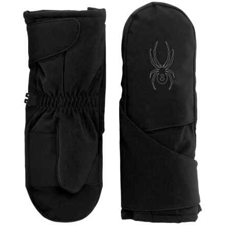 Spyder Mini Cubby Mittens (For Little Kids) in Black/Polar - Closeouts