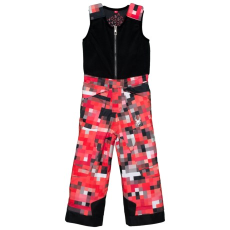 Spyder Mini Expedition Snow Bibs - Waterproof, Insulated (For Little Boys) in Pixel Rage Print