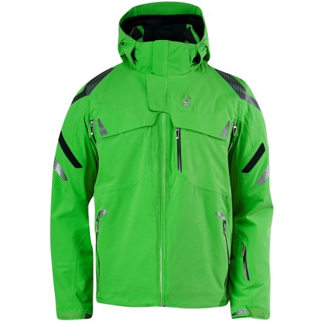 Spyder Monterosa Ski Jacket - Waterproof, Insulated (For Men) in Classic Green/Black/Classic Green