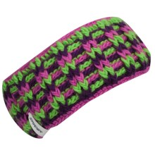 Spyder Mosaic Headband - Fleece Lining (For Women) in Sassy Pink/Green Flash/Gypsy - Closeouts