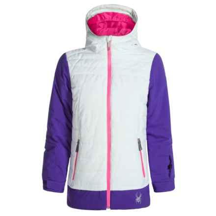 Spyder Moxie Ski Jacket - Waterproof, Insulated (For Girls) in White/Pixie/Bryte Bubblegum - Closeouts