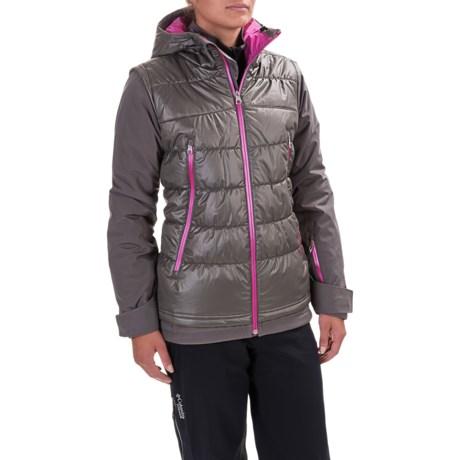 Spyder Moxie Ski Jacket - Waterproof, Insulated (For Women) in Weld/Weld/Voila