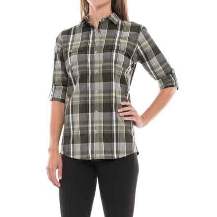 Spyder Newman Shirt - Snap Front, Long Sleeve (For Women) in Deep Lichen Green Plai - Closeouts