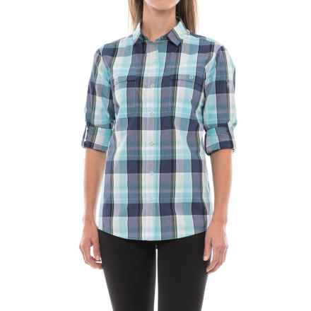 Spyder Newman Shirt - Snap Front, Long Sleeve (For Women) in Freeze Plaid - Closeouts