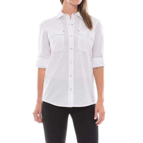 Spyder Newman Shirt - Snap Front, Long Sleeve (For Women) in White