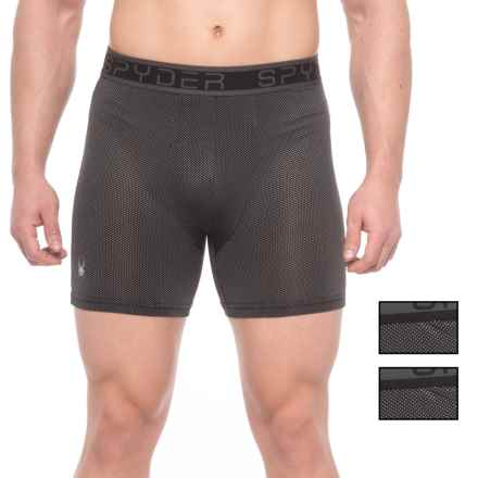 Spyder Nylon-Mesh Boxer Briefs - 3-Pack (For Men) in Black/Black/Black - Closeouts