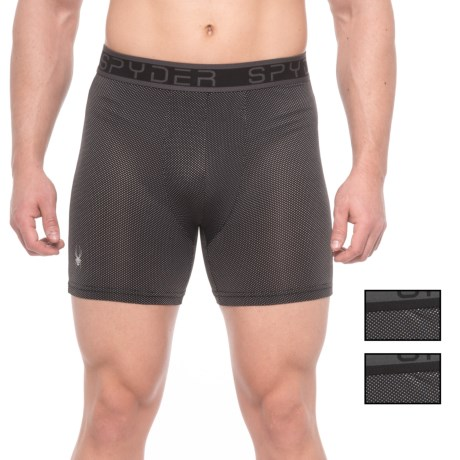 Spyder Nylon-Mesh Boxer Briefs - 3-Pack (For Men) in Black/Black/Black