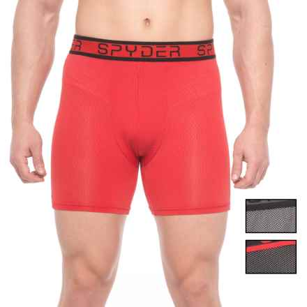 Spyder Nylon-Mesh Boxer Briefs - 3-Pack (For Men) in Black/Gray/Red - Closeouts