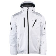 Spyder Orbiter Jacket - Waterproof, Insulated (For Men) in White/Peat - Closeouts