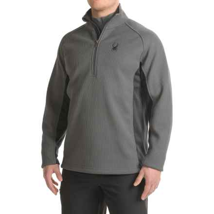 Spyder Outbound Jacket - Zip Neck (For Men) in Polar/Black/Polar - Closeouts