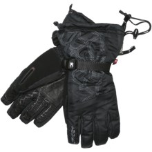 Spyder Overweb Gore-Tex® Ski Gloves - DWR, Waterproof, Insulated (For Men) in Black/Castle Rock - Closeouts