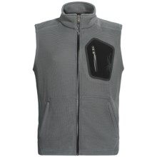 Spyder Paramount CORE Sweater Vest - Lightweight, Full Zip (For Men) in Castle Rock/Black - Closeouts