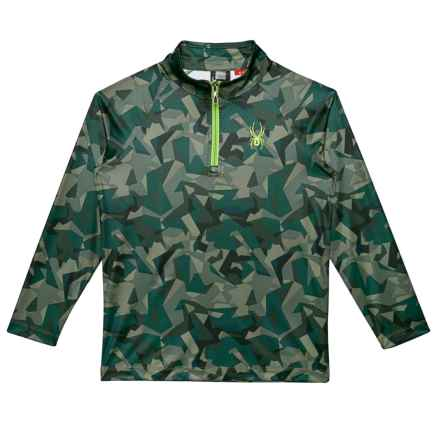 Spyder Park Turtleneck - Zip Neck, Long Sleeve (For Boys) in Guard Mini Camo Print - Closeouts