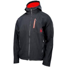 Spyder Patsch GT Soft Shell Jacket (For Men) in Black/Volcano - Closeouts