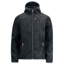 Spyder Patsch Novelty Hooded Jacket - Soft Shell (For Men) in Black Cord - Closeouts
