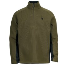 Spyder Pitch Sweater - Heavyweight, Zip Neck (For Men) in Sergeant - Closeouts