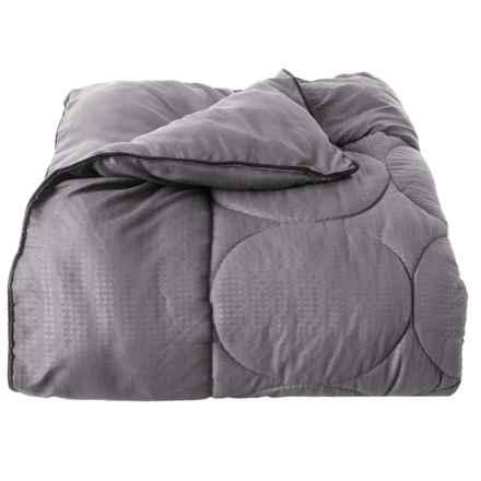 Spyder Polar Grey-Black Down-Alternative Blanket - King in Polar Grey/Black - Closeouts