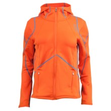 Spyder Popstretch Hooded Jacket - Microfleece (For Women) in Heat/Coast - Closeouts
