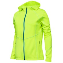 Spyder Popstretch Micofleece Jacket (For Women) in Bright Yellow/Robins Egg/Chill - Closeouts