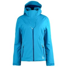 Spyder Power Ski Jacket - Waterproof, Insulated (For Women) in Coast/Blue My Mind - Closeouts