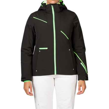 Spyder Prevail Thinsulate® Ski Jacket - Waterproof, Insulated, Relaxed Fit (For Women) in Black/Green Flash/Bright Yellow - Closeouts