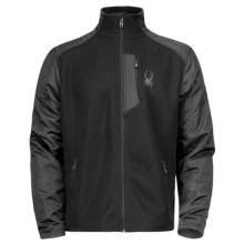 Spyder Principle Hybrid Core Sweater - Full Zip, Midweight (For Men) in Black/Black/Black - Closeouts