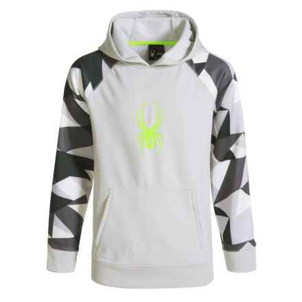 Spyder Printed Sleeve Hoodie (For Kids) in Cirrus - Closeouts