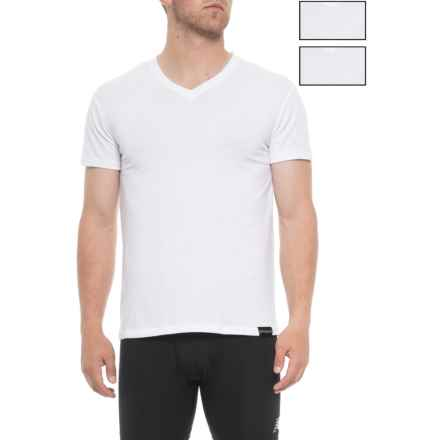 Spyder Pro-Cotton Shirt - 3-Pack, V-Neck, Short Sleeve (For Men) in White - Closeouts