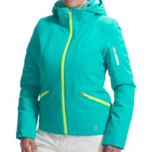 Spyder Project Ski Jacket - Waterproof, Insulated (For Women) in Robins Egg/Robins Egg/Bright Yellow - Closeouts