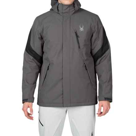 Spyder Pursuit Thinsulate® Ski Jacket - Waterproof, Insulated (For Men) in Polar/Black - Closeouts