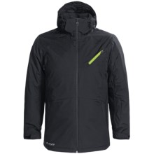 Spyder Quandary Ski Jacket - Waterproof, Insulated (For Men) in Black/Lime - Closeouts