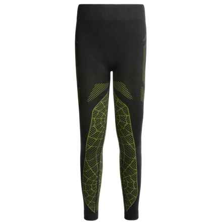 Spyder Racer Base Layer Bottoms (For Little and Big Boys) in Black/Theory Green - Closeouts