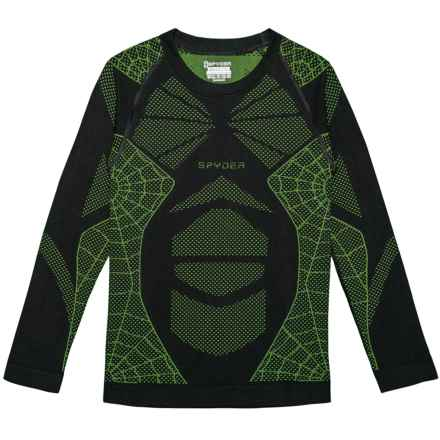 Spyder Racer Base Layer Top - Long Sleeve (For Boys) in Black/Fresh - Closeouts