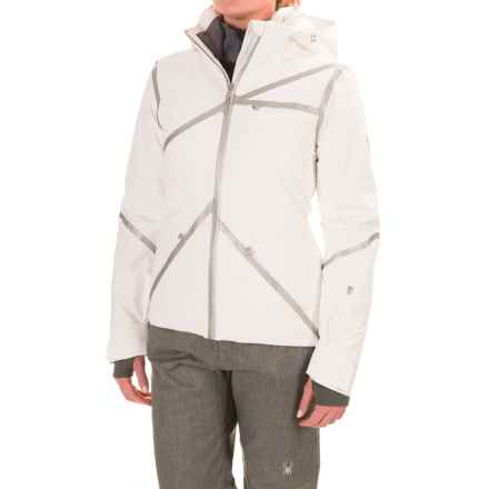 Spyder Radiant PrimaLoft® Ski Jacket - Waterproof, Insulated (For Women) in White/Silver/White - Closeouts
