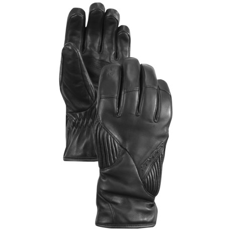 Spyder Rage Ski Gloves - Leather, PrimaLoft® (For Women) in Black