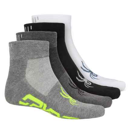 Spyder Reflective Socks - 4-Pack, Ankle (For Men) in White Multi - Closeouts